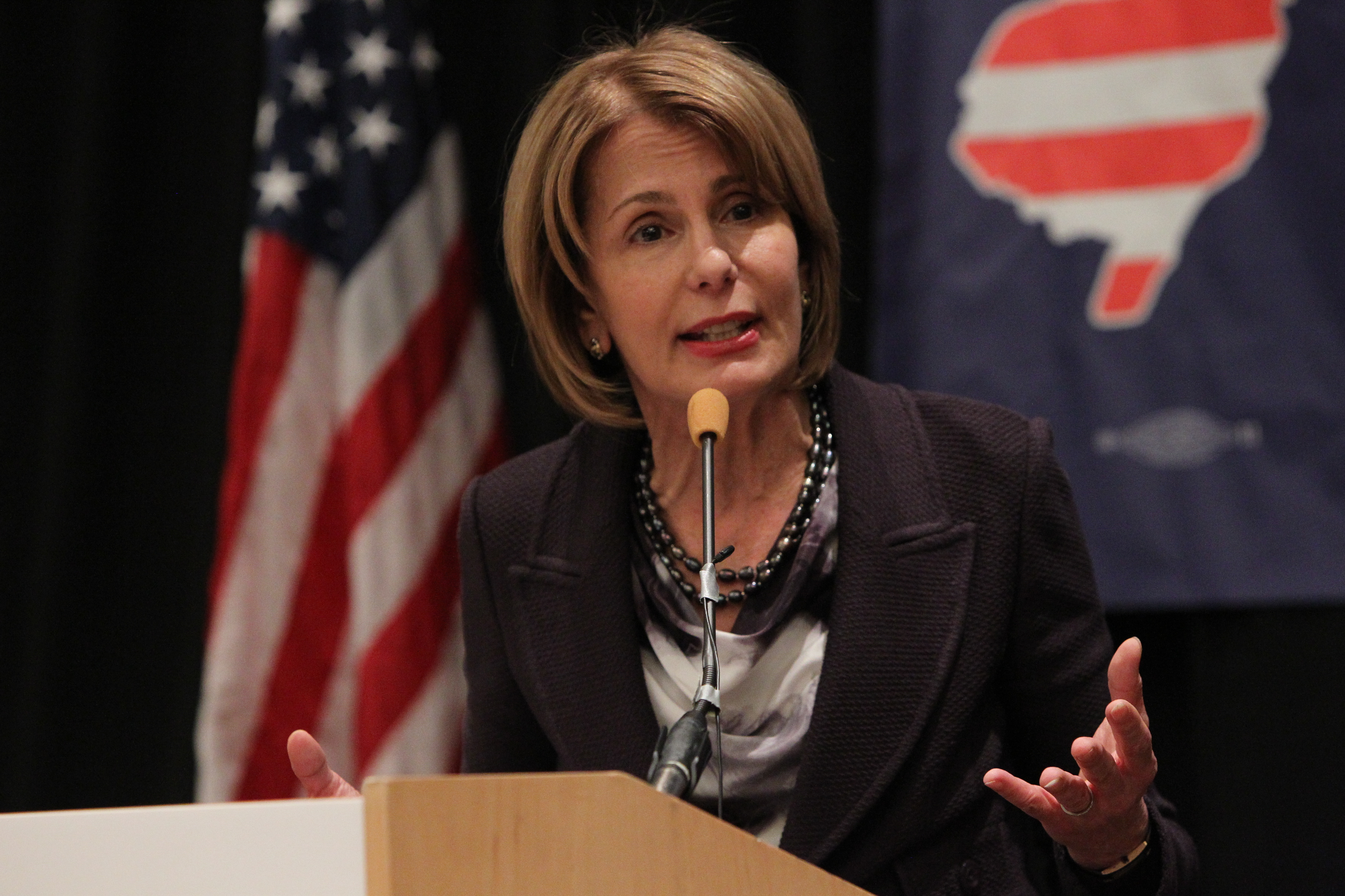 Progressive Democratic Sen. Barbara Buono