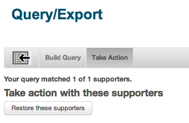 Query and Export – Salsa Help Center