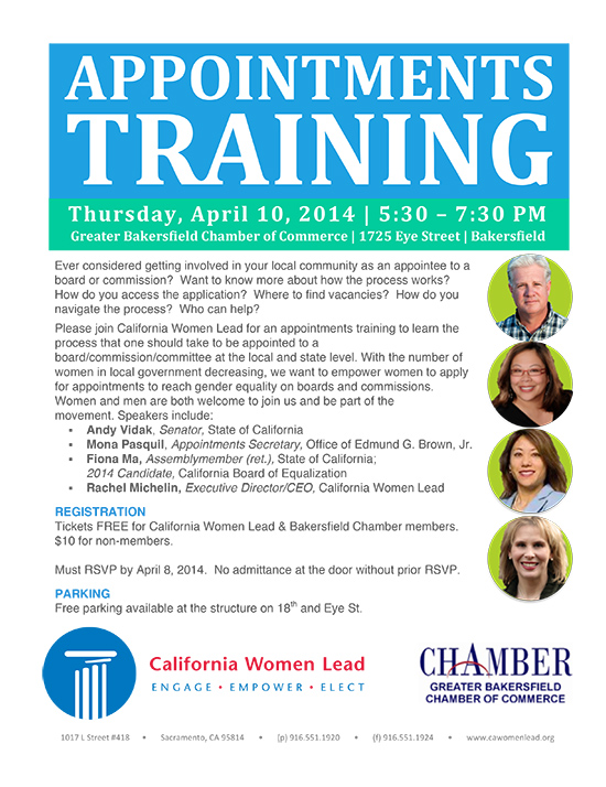 Please come to our Bakersfield Appointments Training