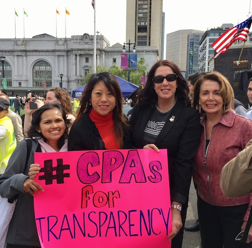 Tax Day Protests Demanding Trump Release Tax Records: Fiona Ma, CPA For California State