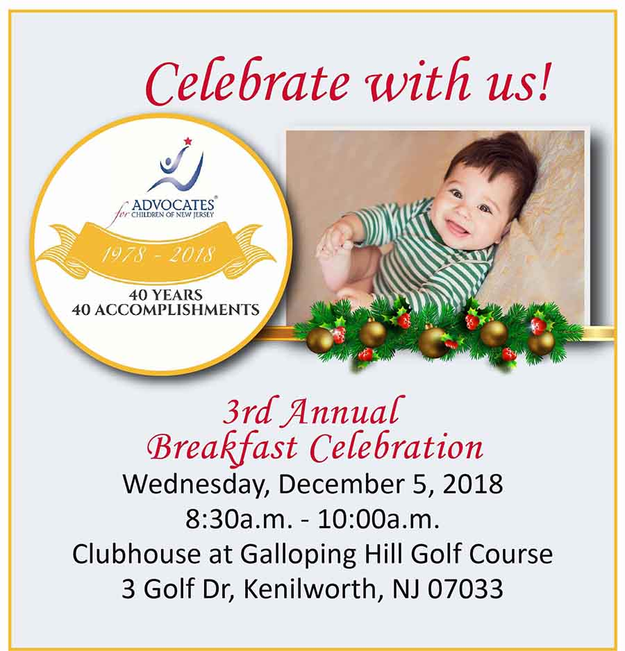 Celebrate with us at our 3rd Annual Breakfast Celebration, Dec. 5, 2018. Learn more.